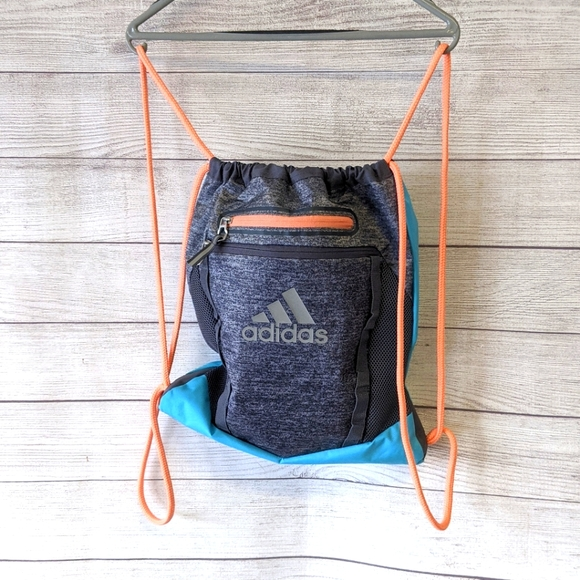 Adidas canvas draw string back pack bag